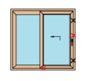 Porta finestra scorrevole alzante edil ser serramenti torino - Larghezza porta finestra ...