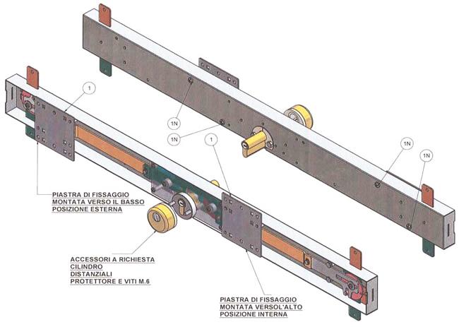 Sostituzione serratura di sicurezza per basculanti edil - Serratura porta basculante garage ...